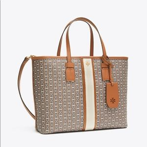 "TORY BURCH ""Gemini link"" canvas tote"